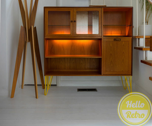 Upcycled G-Plan cabinet with hairpin legs on eBay