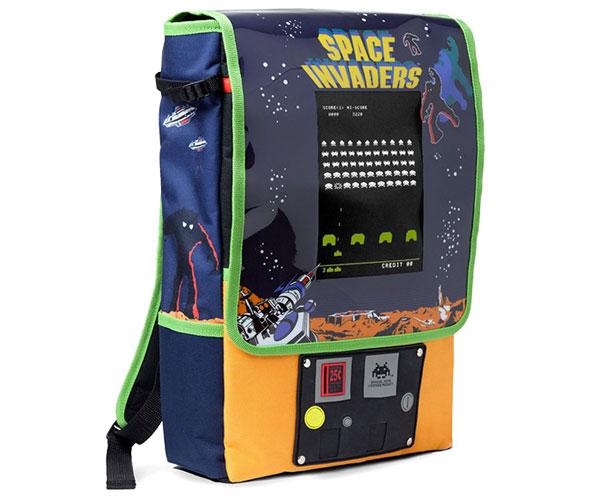 Space Invaders Arcade Cabinet Backpack at ThinkGeek