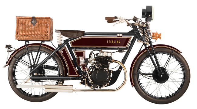 Sterling 1920s-style motorcycles by Black Douglas