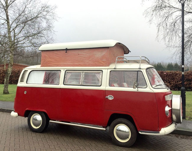 Fully restored 1972 Volkswagen T2 Camper Van on eBay