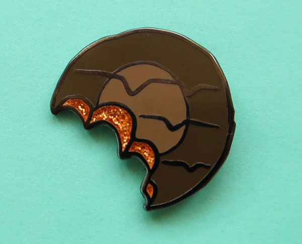 Classic biscuit enamel badges by Nikki McWilliams at Etsy
