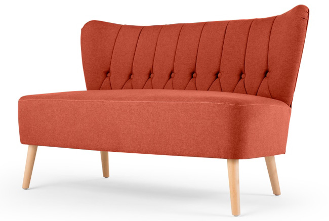 Charley Retro Two Seater Sofa At Made