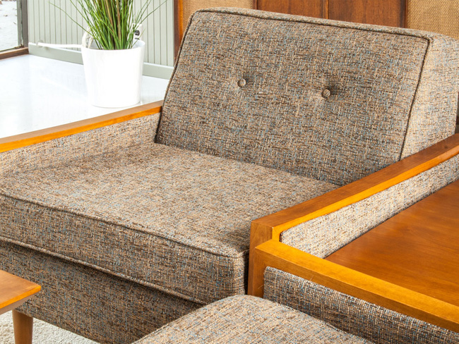 Midcentury-style Tyler sofa and armchair by Casara Modern