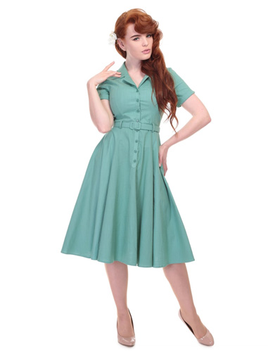 1950s-style Collectif Caterina swing dress