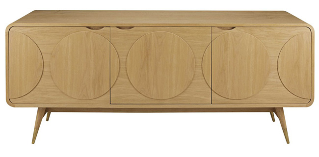 Colby retro three-door sideboard at Maisons Du Monde