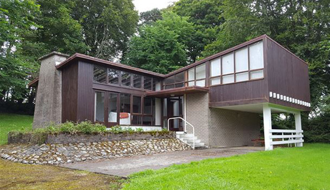 Retro house for sale: 1960s modernist property in Williamstown, Whitegate, County Clare, Ireland