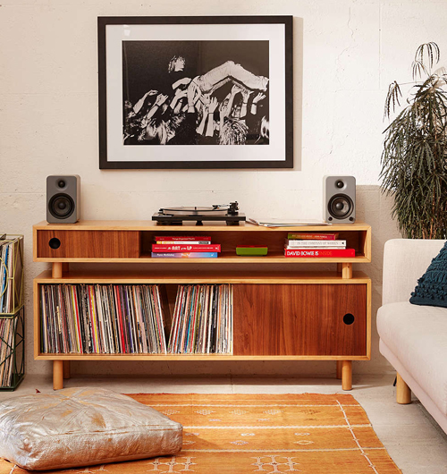 Hamilton retro-style media console at Urban Outfitters
