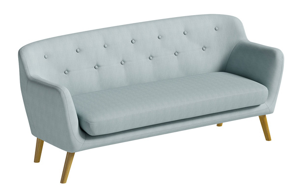 Holborn midcentury-style sofa and armchair at Matalan