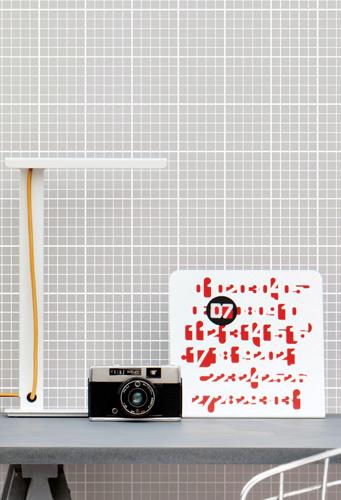 Going old school: 1980s-inspired Homework wallpaper by Mini Moderns