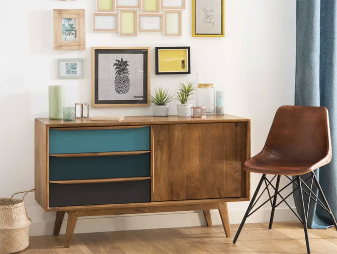 Janeiro midcentury modern furniture at Maisons Du Monde