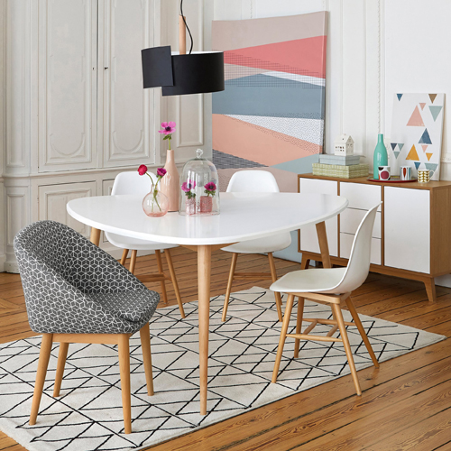 Jimi midcentury-style dining table at La Redoute gets a super-sized makeover