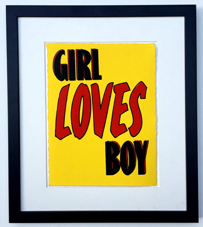 Retro love-themed prints by John Patrick Reynolds