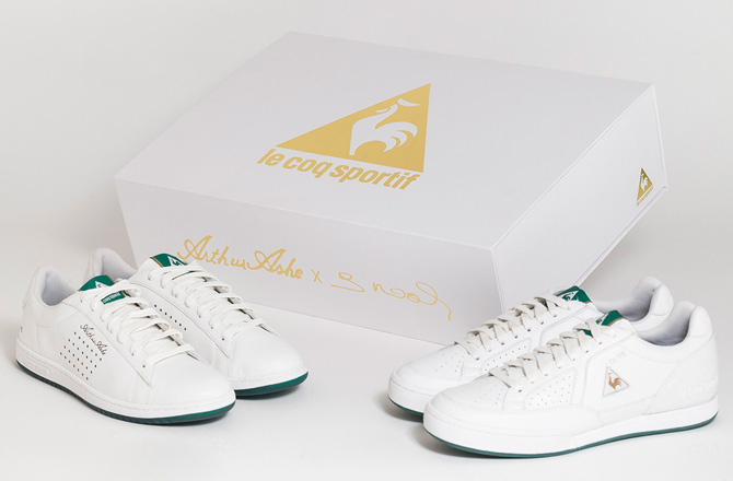 Le Coq Sportif 1978 Pack tennis shoes in tribute to Arthur Ashe and Yannick Noah