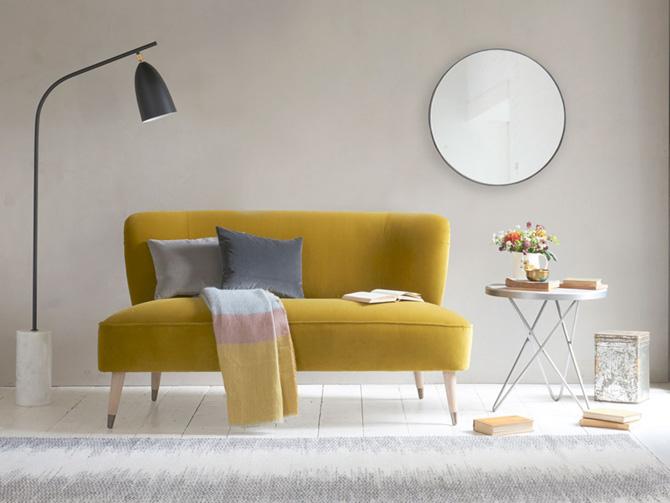Retro-style Tux sofa at Loaf