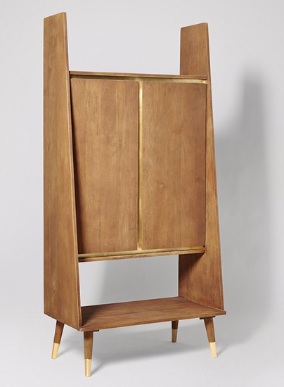 Limited edition Iver midcentury-style cabinets by Swoon Editions