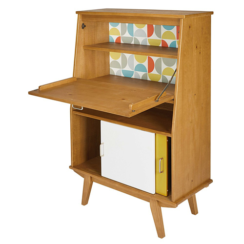 Paulette retro-style writing desk at Maisons Du Monde