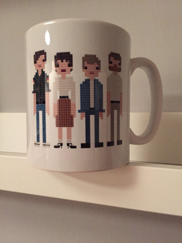 Retro indie and rock mugs by Eight Bit North