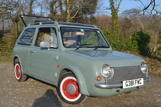 Retro Nissan Pao car on eBay
