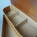 1950s midcentury-style sewing box on eBay