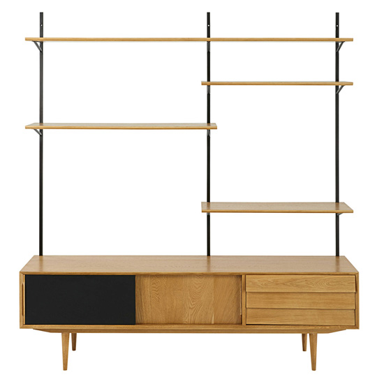 Sheffield midcentury style tv unit and shelving at maisons - Magasin style maison du monde ...