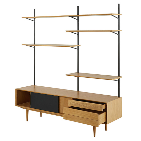 Sheffield midcentury-style TV unit and shelving at Maisons Du Monde