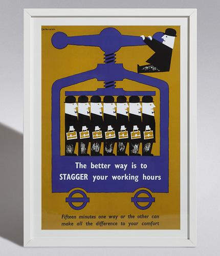 Classic TfL information prints at Marks & Spencer