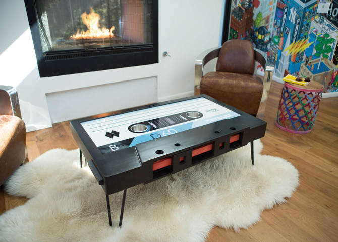 B-side by Taybles: The cassette tape coffee table gets affordable