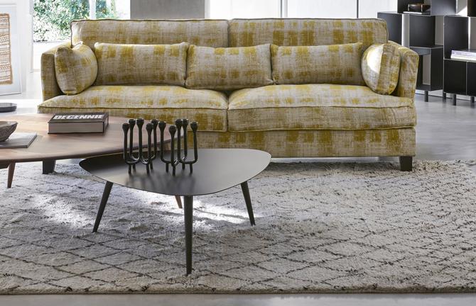 Midcentury interior: Theoleine large walnut coffee table at La Redoute