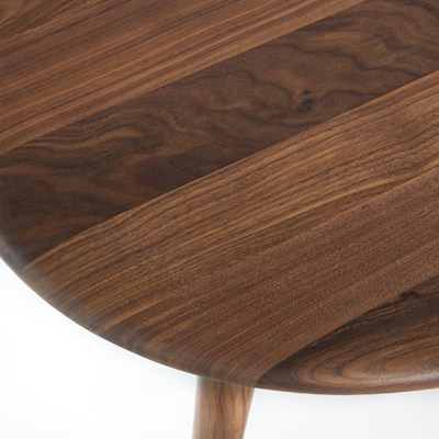 Midcentury interior: Theoleine large walnut coffee table at La Redoute