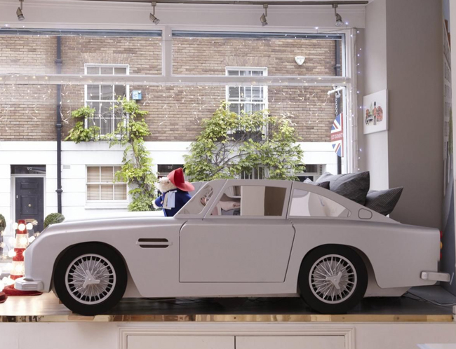 James Bond style: Vintage Car Bed for kids at Dragons Of Walton Street