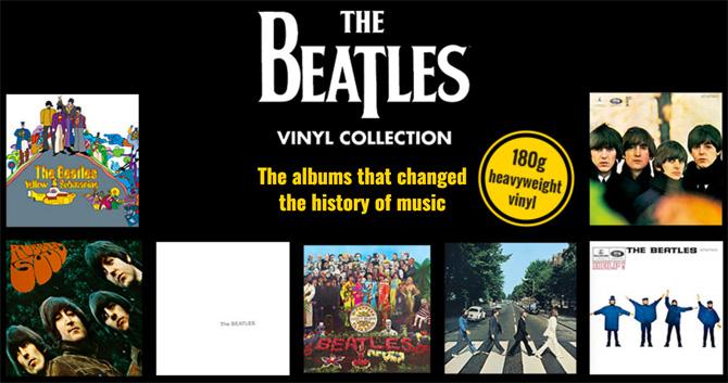 The Beatles magazine comes with heavyweight vinyl album reissues