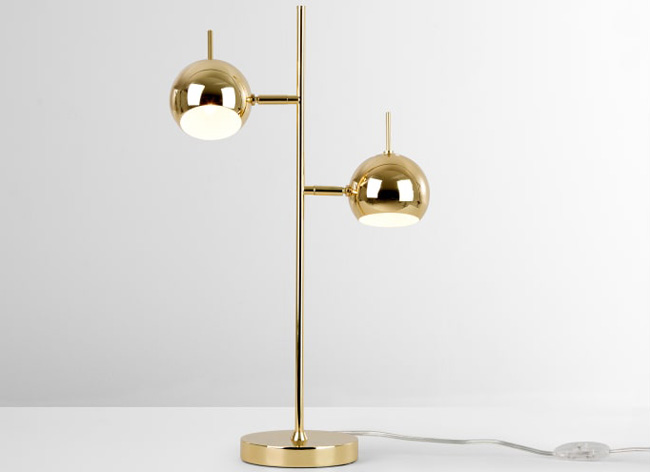 Retro-style Austin table lamp returns to Made in brass