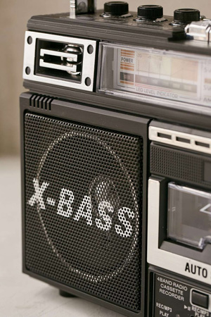 1980s-style Urban Outfitters Boombox with added MP3 recording