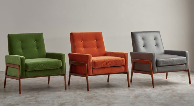 Cecil midcentury-style armchair range at Made
