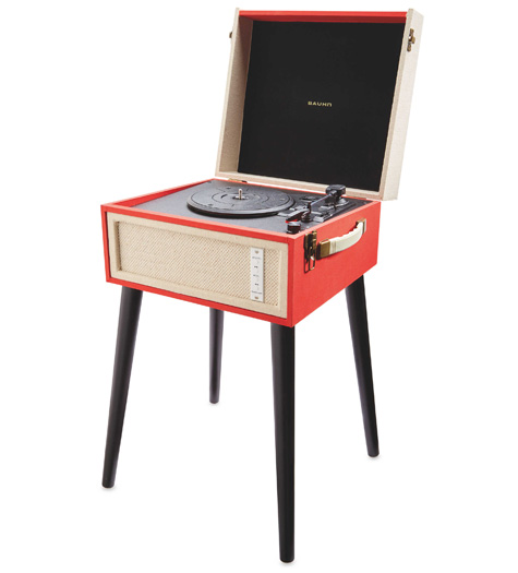 Budget audio: Bauhn Dansette-style record player with legs at Aldi