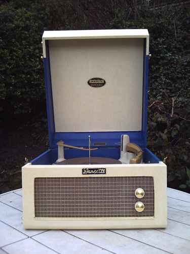 Restored 1950s Dansette Major Deluxe record player on eBay
