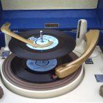 Restored 1950s Dansette Major Deluxe record player on eBay