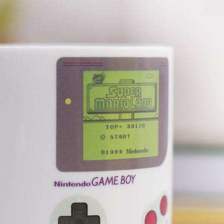 Retro kitchen: Game Boy heat change mug at Firebox