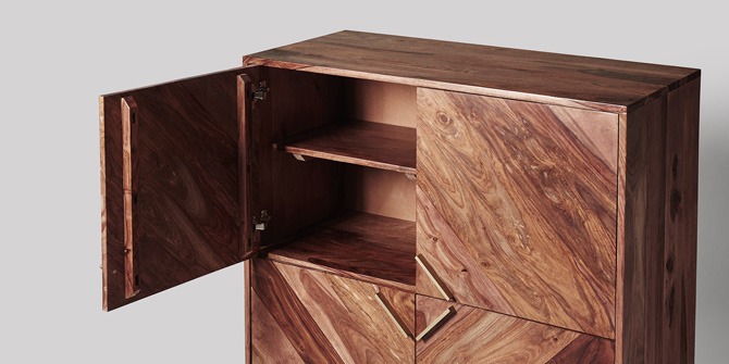 Midcentury-style Ida cabinet at Swoon Editions