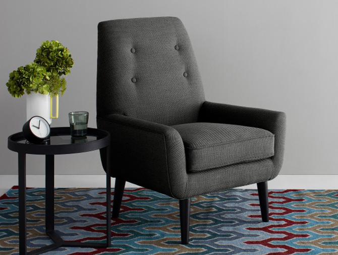Imogen midcentury-style accent chair at Made