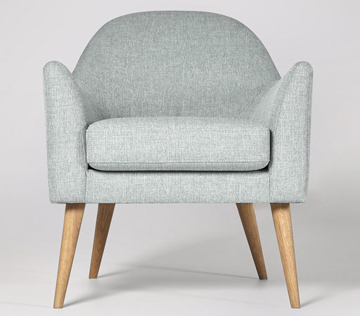 Juno midcentury-style armchair at Swoon Editions