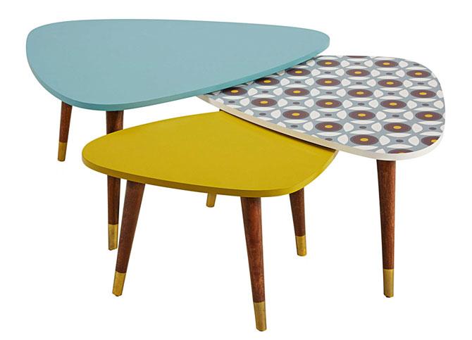 Lucette retro nesting tables at Maisons Du Monde