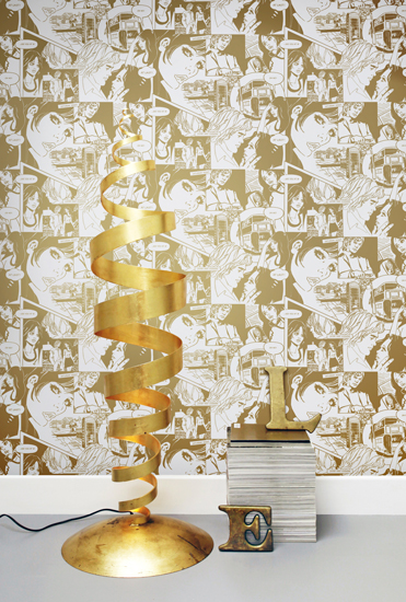 Comic book walls: True Romance wallpaper by Mini Moderns