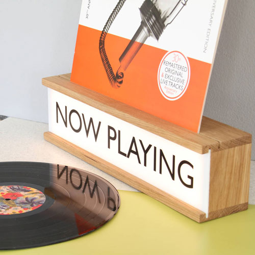 Now Playing vinyl holder and lightbox by James Design