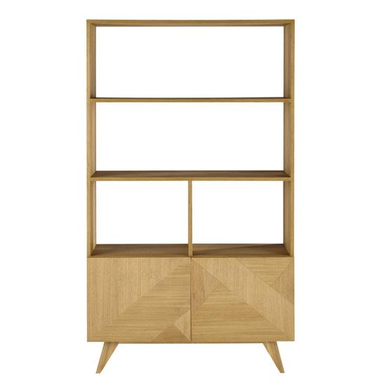 Origami retro-style wooden bookcase at Maisons Du Monde