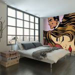 Roy Lichtenstein-inspired pop art murals at Wall Sauce