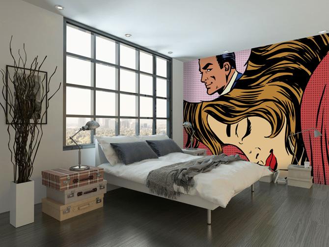 Roy Lichtenstein-inspired pop art murals at Wall Sauce