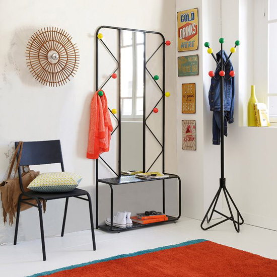 Agama retro style coat stand and hall unit at la redoute retro to go - Porte manteaux mural ikea ...