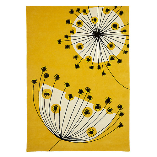 Retro-style Dandelion rug by MissPrint