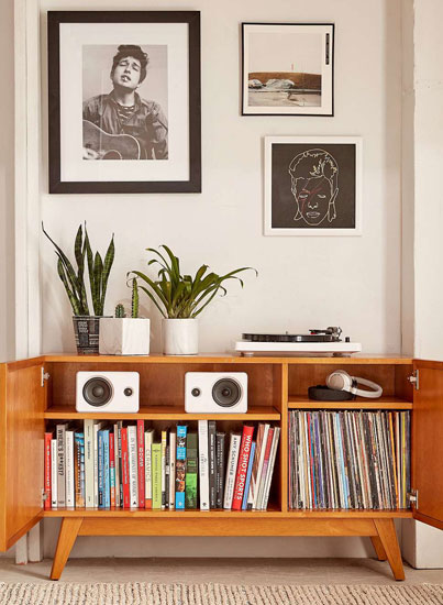 Now in the UK: Midcentury-style Sawyer media console at Urban Outfitters
